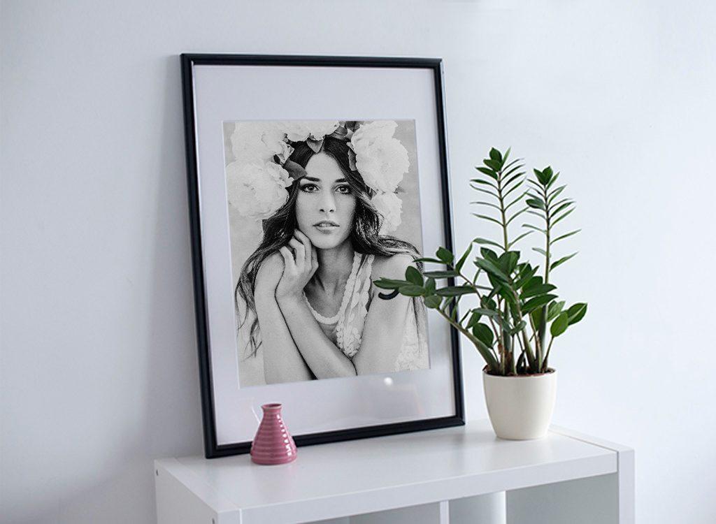 Fotografia in passepartout in bianco e nero