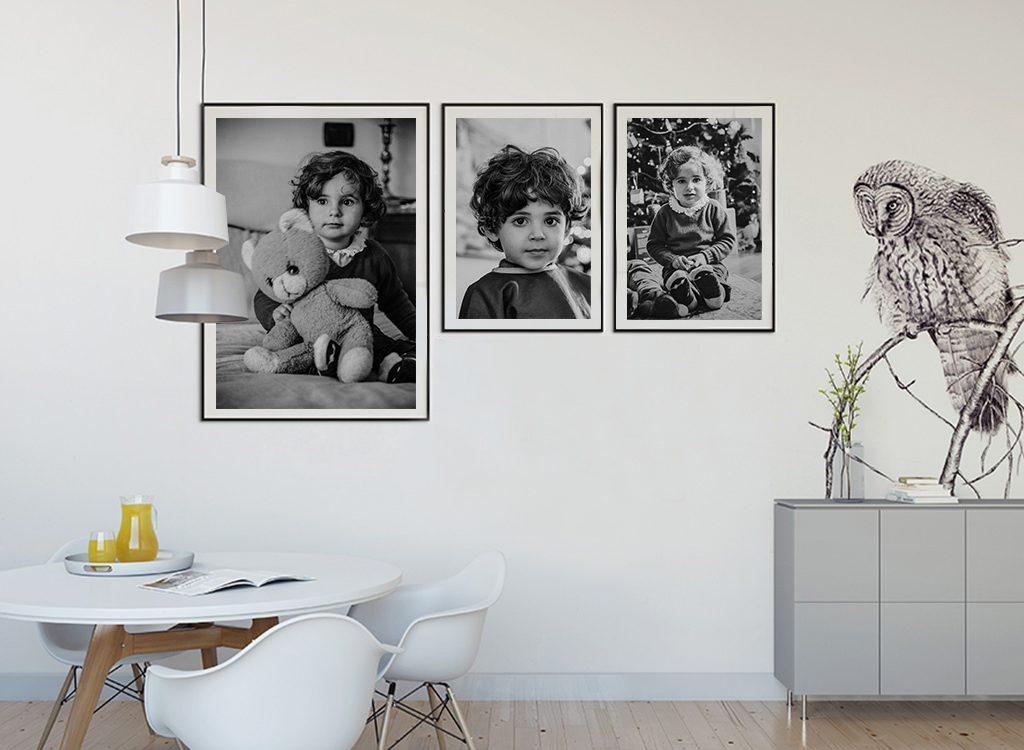 Fotografia bambini | stampa sul muro | bianco e nero
