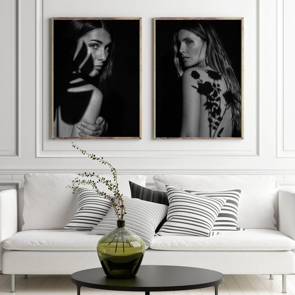 Fotografia artistica in bianco e nero | ritratto ombra
