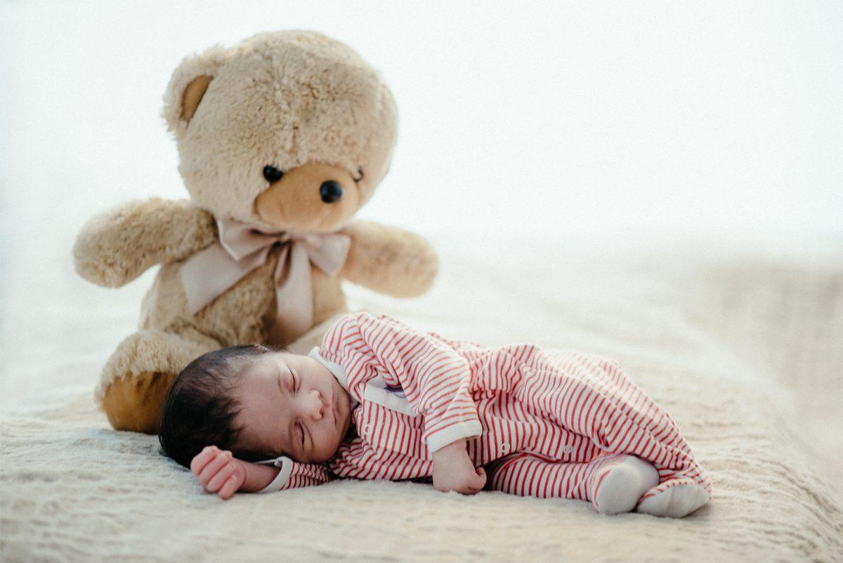 fotoritratto neonato che dorme