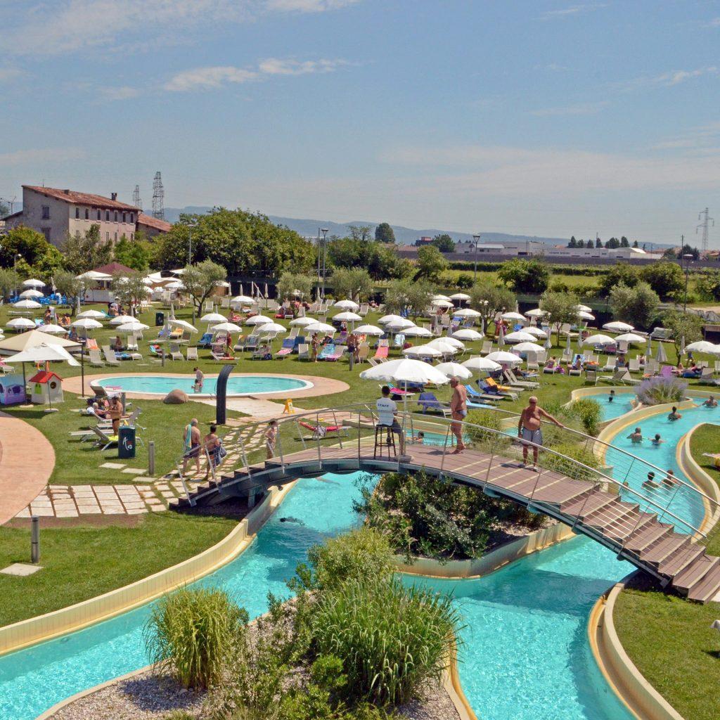 Fotografia panorama parco acquatico AQuardens Verona