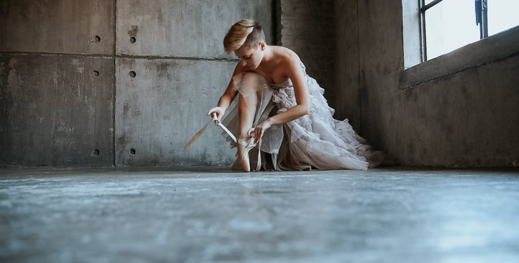 Fotografia di una ballerina a Torino
